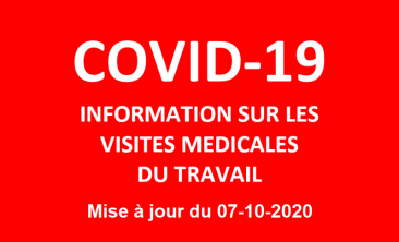 COVID-19 - INFORMATION ON OCCUPATIONAL MEDICAL VISITS